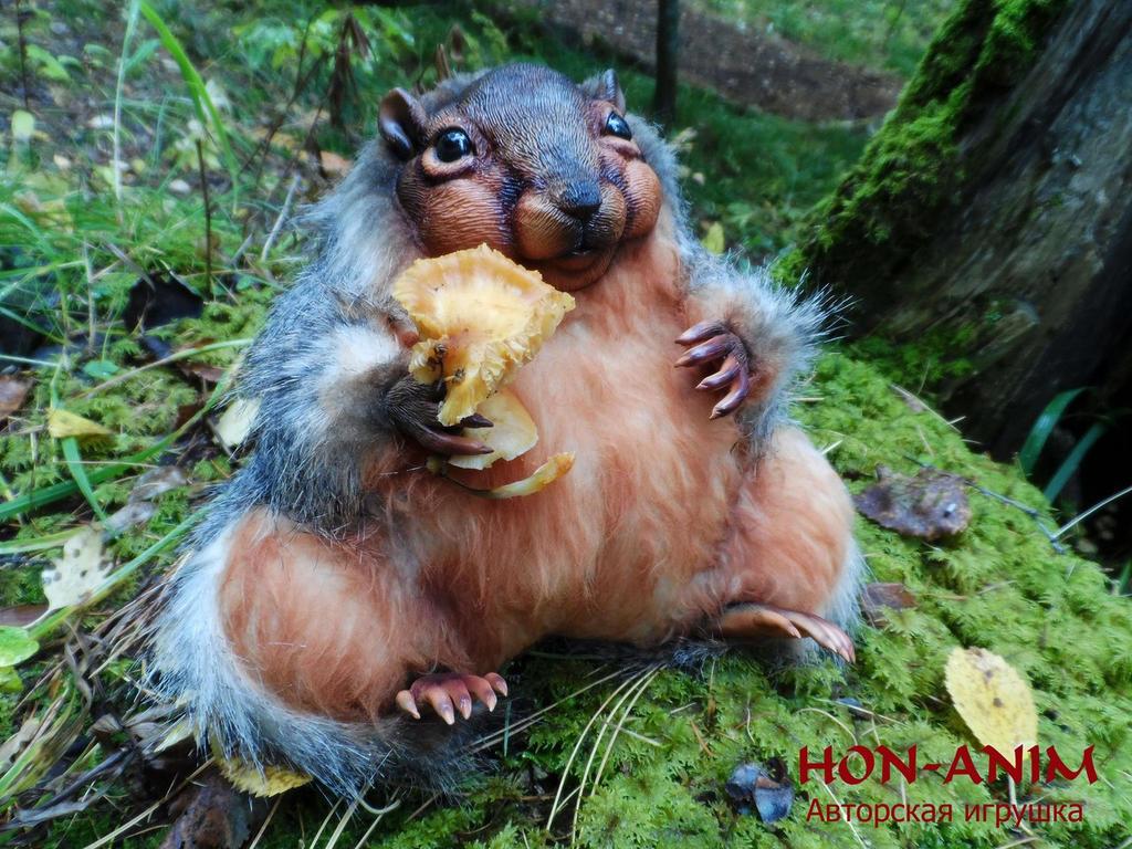 very plump Belochka by hon-anim