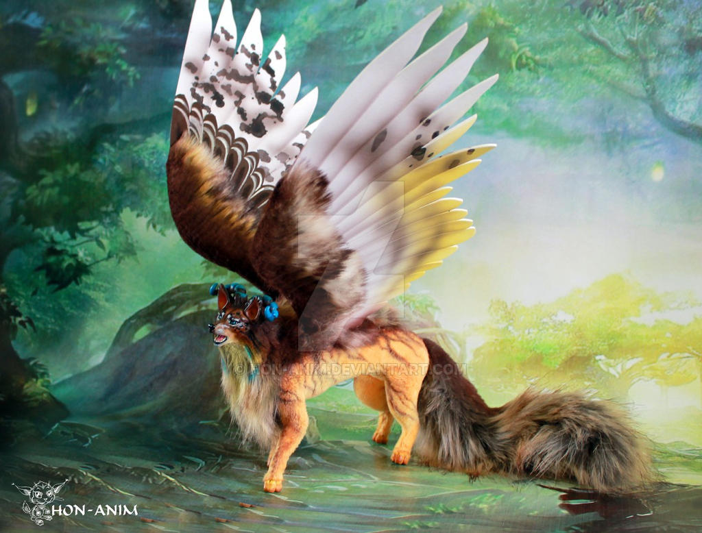 fantasy fox with wings by hon anim on deviantart doll works doll works