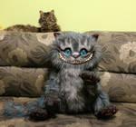 My real cat and my handmade work Cheshire Cat