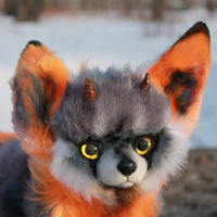 Fantasy fox with horns