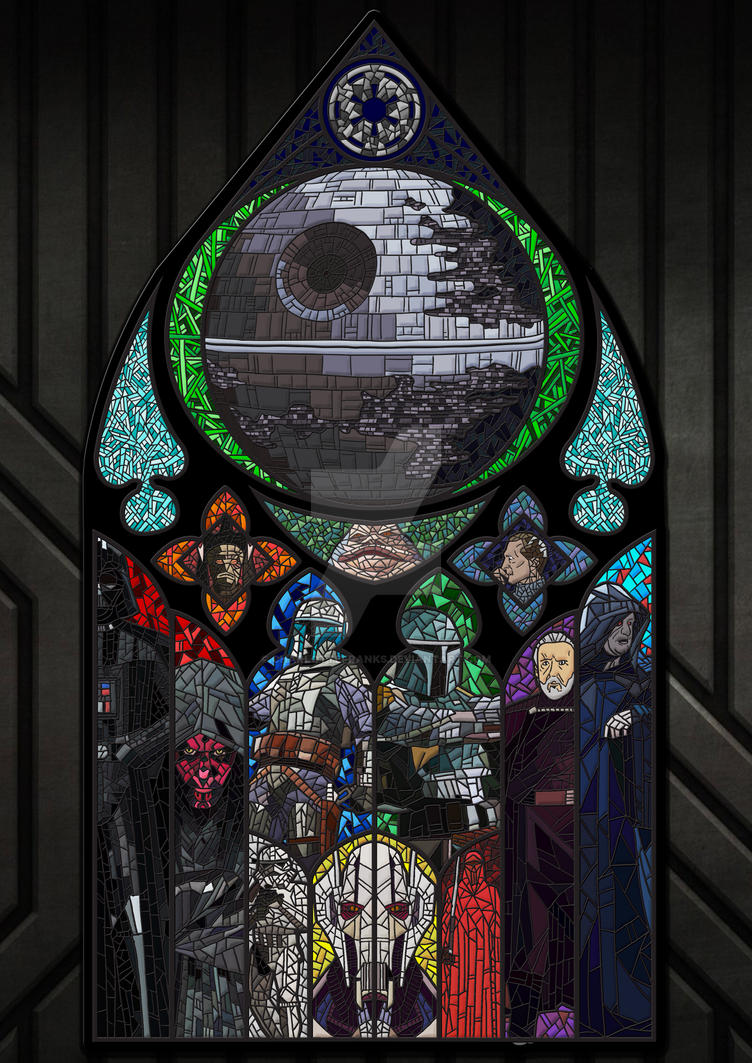 Darkside Stain glass by CharlotteFranks