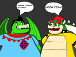Sir Loungelot And Bowser by FantasyBoyce2021