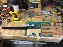 Blaster rifle scratch build wip