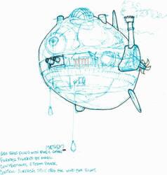 Fantasy Airship - Steampunk concept