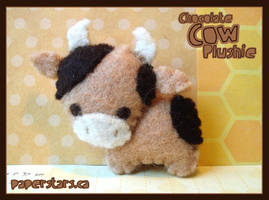 Chocolate Cow by littlepaperforest