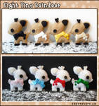 Eight Tiny Reindeer by littlepaperforest