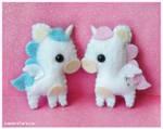 Unicorns by littlepaperforest