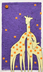 Giraffe Collage by littlepaperforest