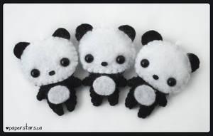 Pandas by littlepaperforest