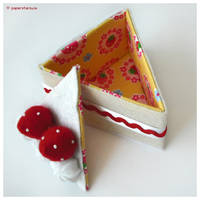 Strawberry Cake Slice by littlepaperforest
