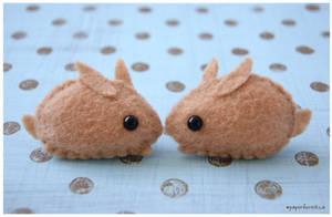 Little Brown Bunnies by littlepaperforest