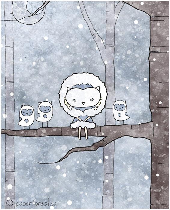 Winter by littlepaperforest