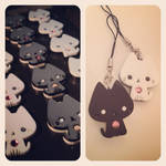 Black and White Kitty Charms - WIP