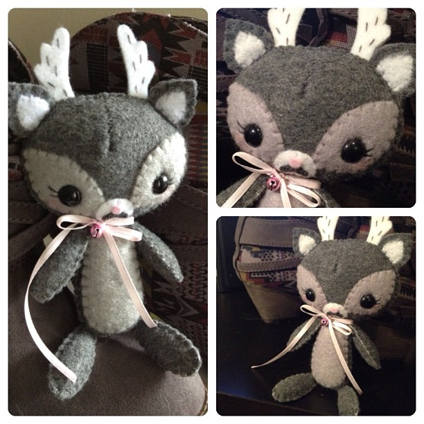 Grey Fawn Plushie by littlepaperforest