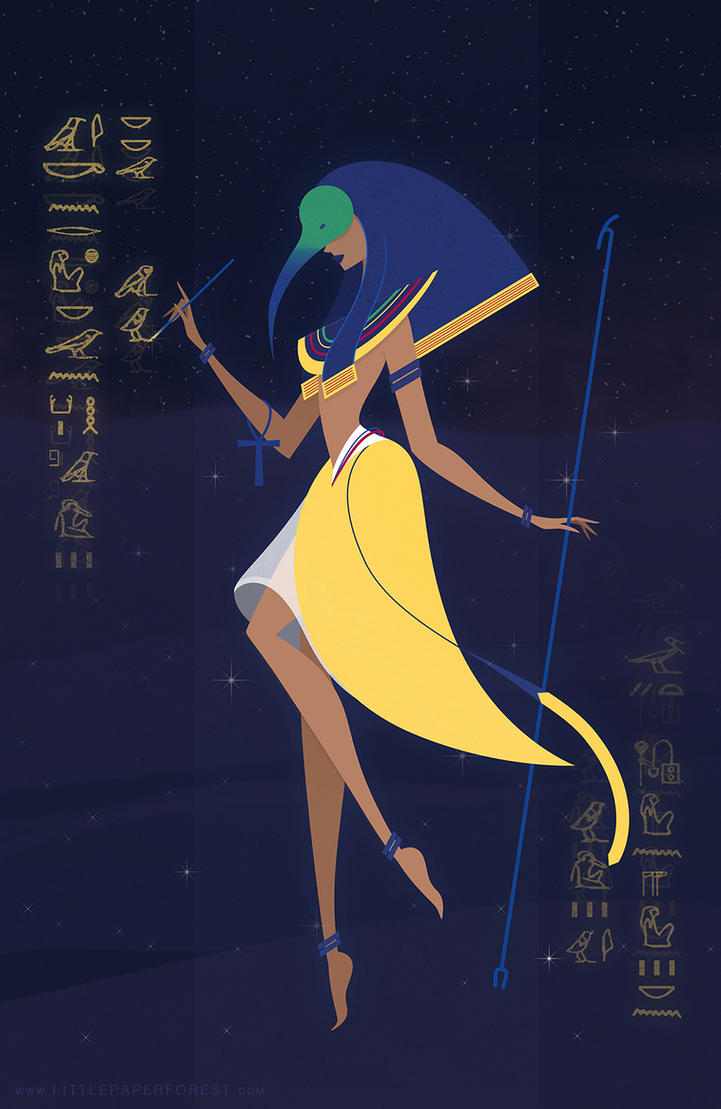 thoth by littlepaperforest on deviantart