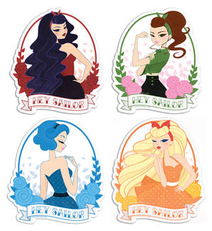 Sailor Moon Pin-Up Stickers