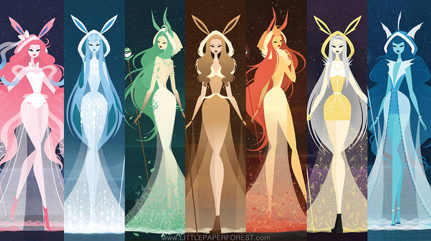 Eeveelutions as Goddesses