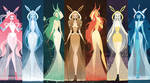 Eeveelutions as Goddesses