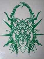 Hazama emblem vinyl by Ohmygahdee