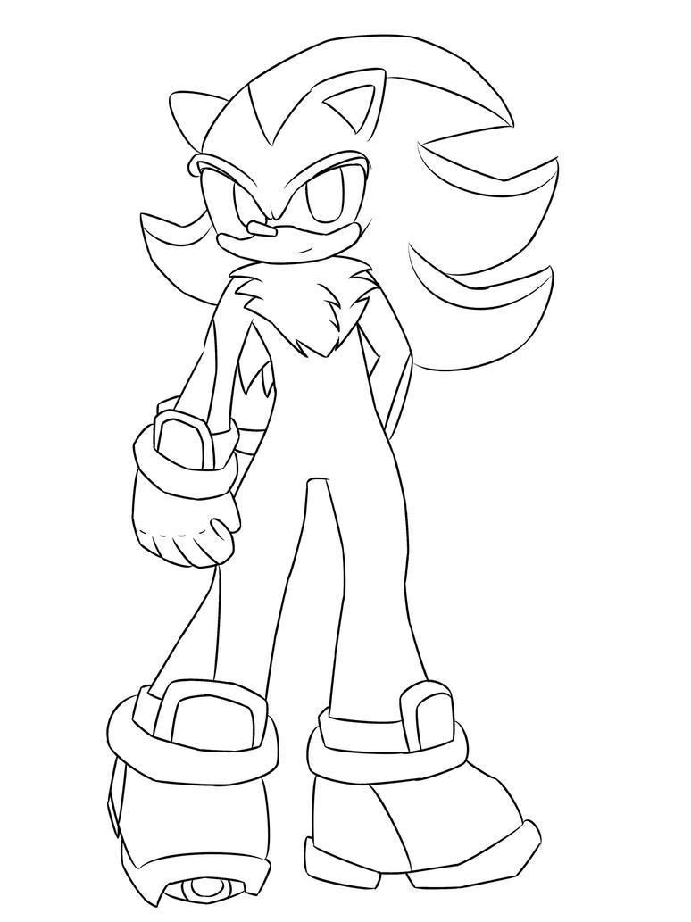 Line Drawing Hedgehog : Line art shadow the hedgehog by mystikal aurora on deviantart