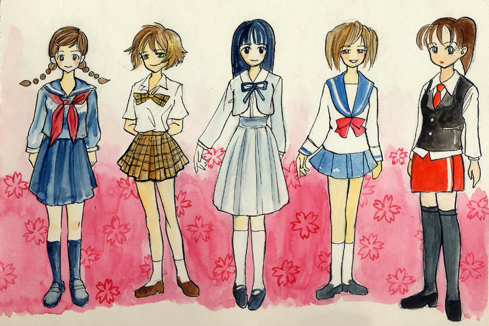 First set of girls in School uniforms. I have an immense fondness for ...