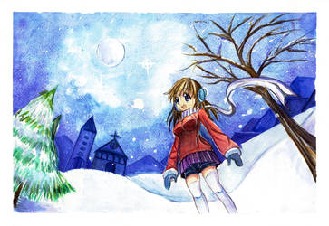 christmas' full moon by roshichen
