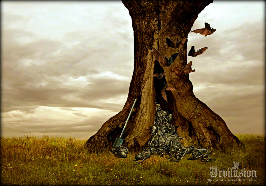The hollowed Tree by D3vilusion