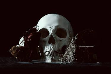 Smoking Skull n' Roses
