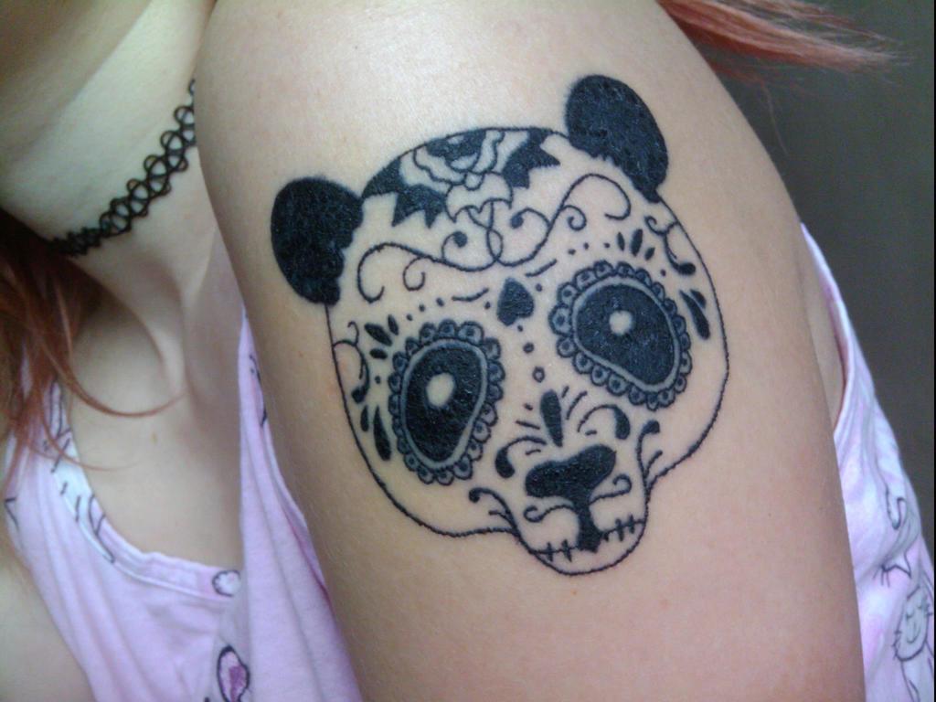 panda tattoo by psychopaticcupcake on deviantart. Black Bedroom Furniture Sets. Home Design Ideas