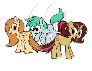 Ponies jumping rope by manulis