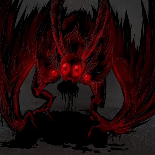 Dark Mothman by RoomsInTheWalls
