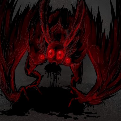 Dark Mothman by RoomsInTheWalls