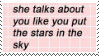 f2u - Like you put the stars in the sky stamp by Pastel--Galaxies