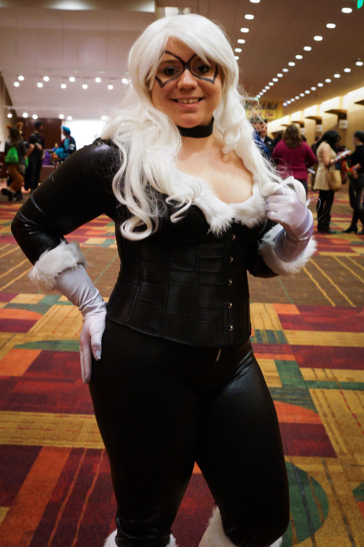 Indiana Comic Con Black Cat by SirKirkules