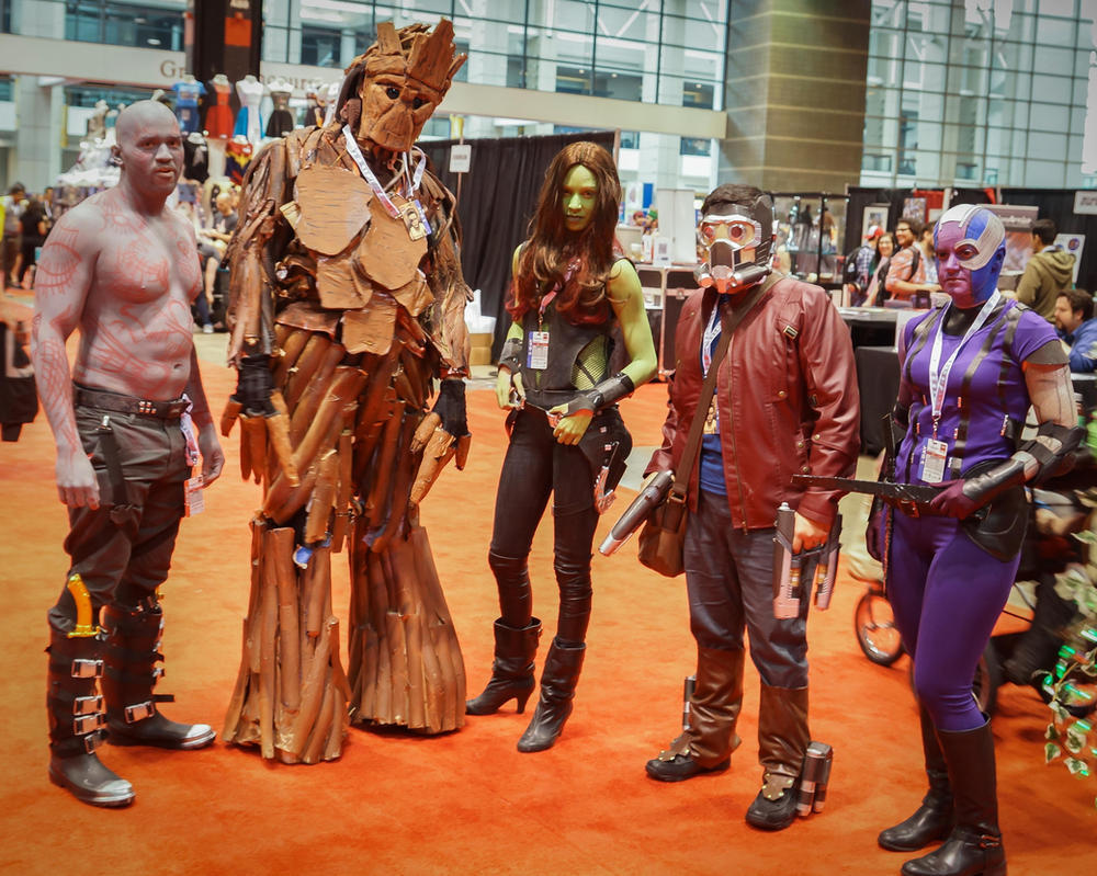 C2E2 Drax, Groot, Gamora, Star-Lord, Nebula by SirKirkules
