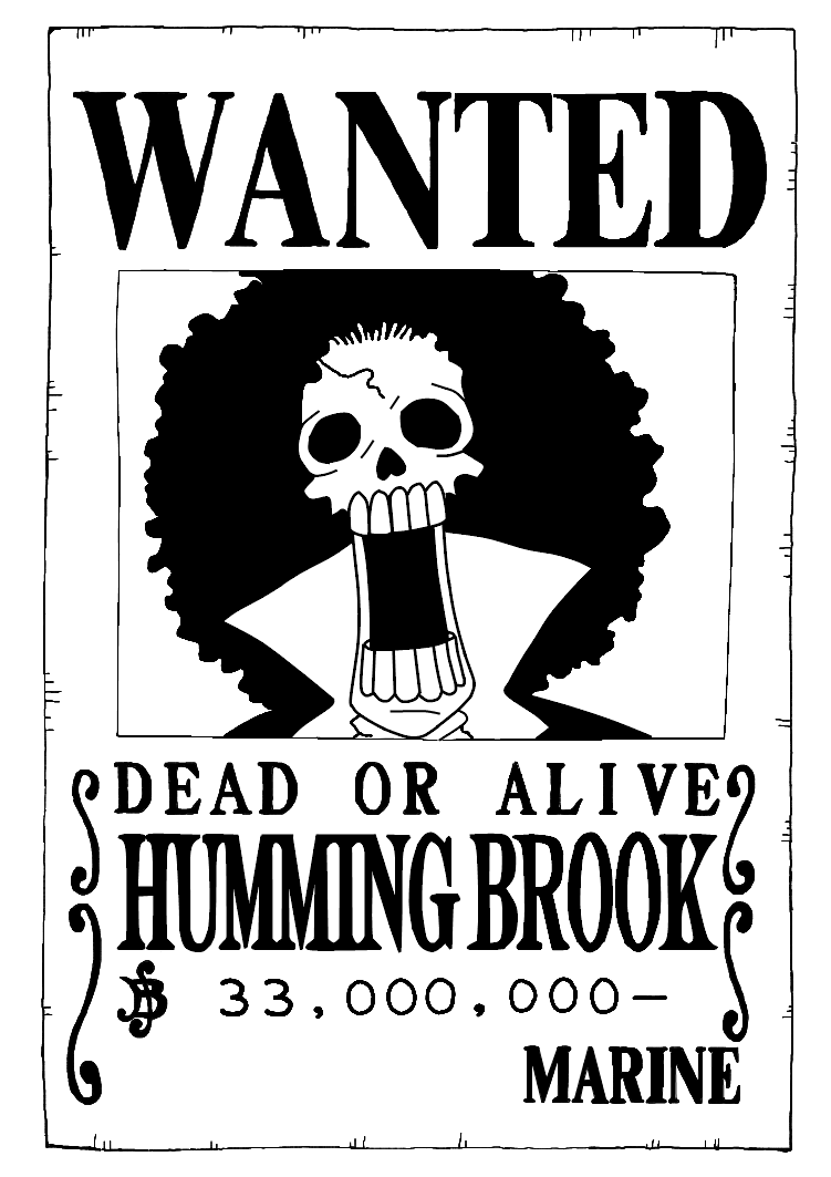 One Piece Wanted Poster Brook
