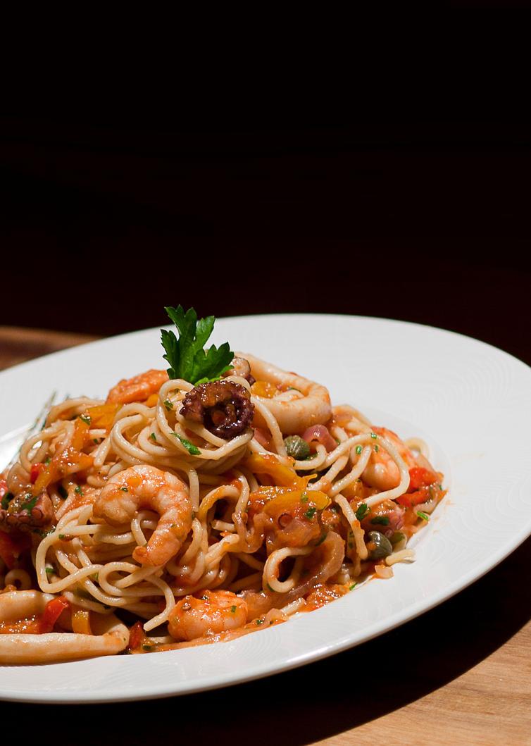Sea Fruit Spaghetti by gescosteguy