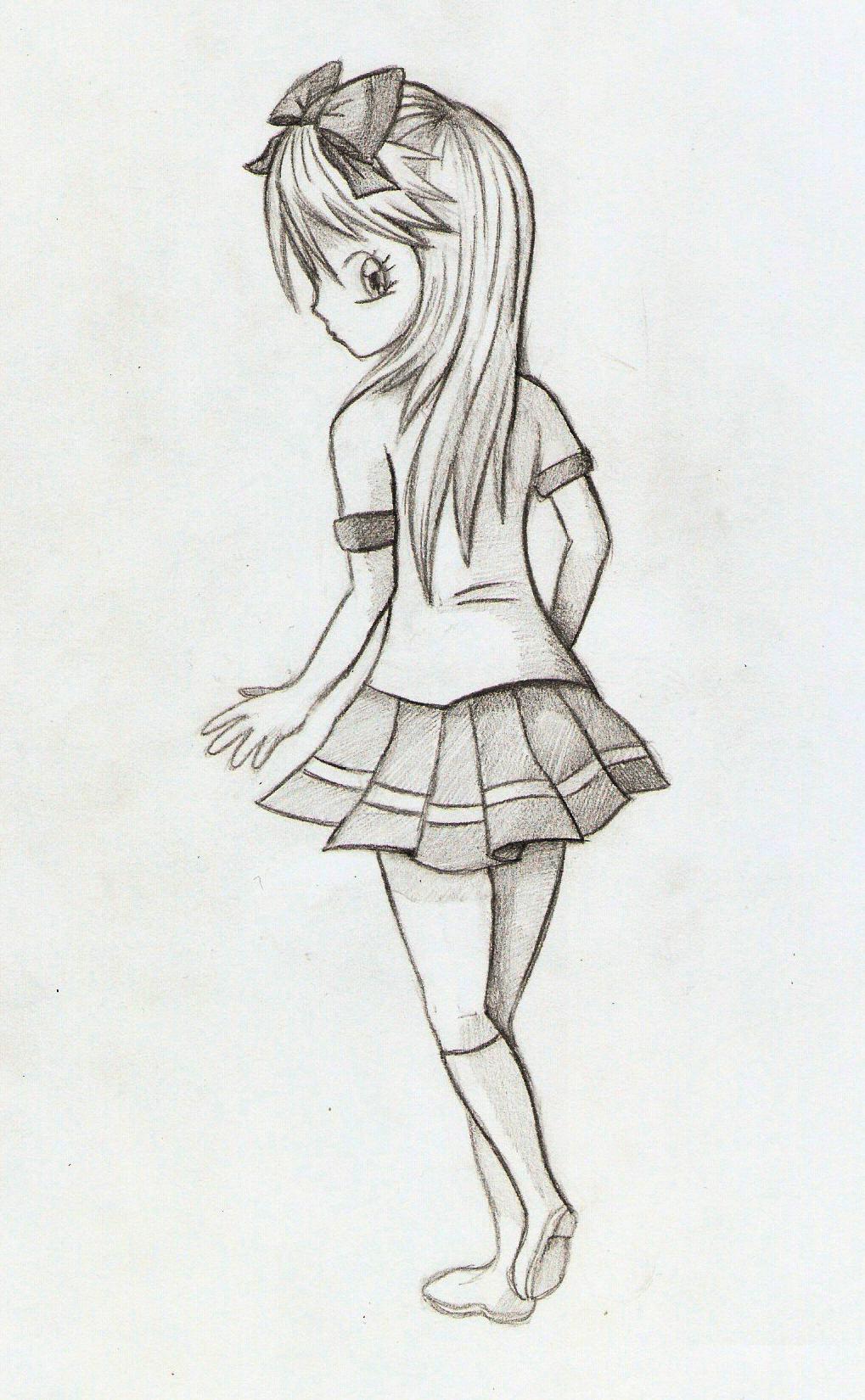 Anime Girl Back by Zero-Rtist on DeviantArt