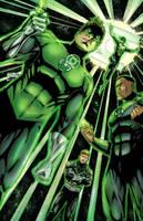 Green Lanterns by BacchiColorist