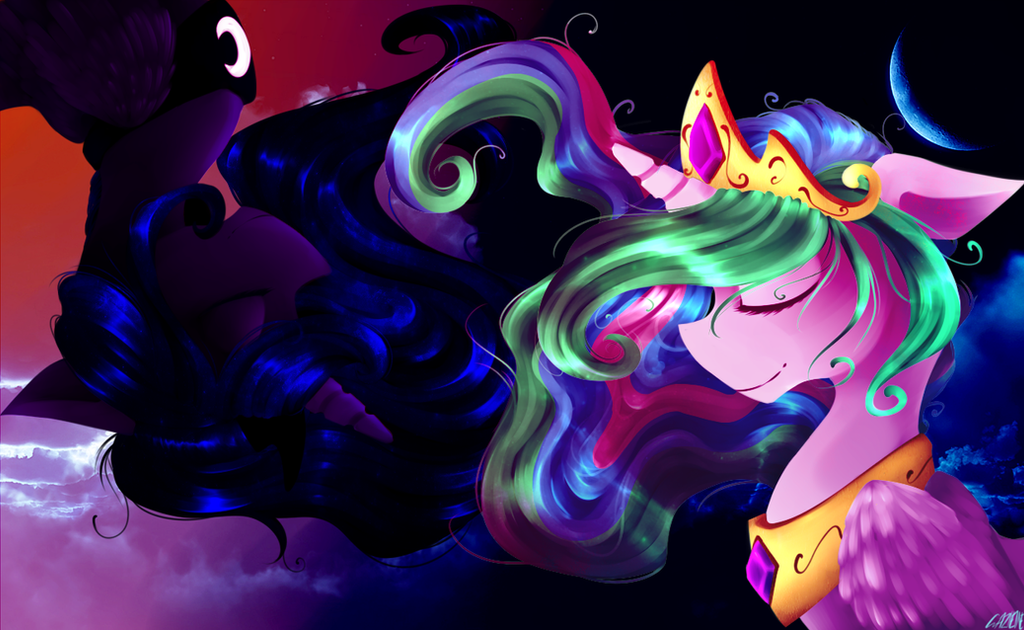 Sun and Moon. by Polkadot-Creeper
