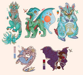 Scribble Creatures -SOLD- by The-Greatest-Mystery