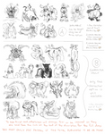 Huge Adoptable Sketch Dump - Leftovers [OPEN] by The-Greatest-Mystery