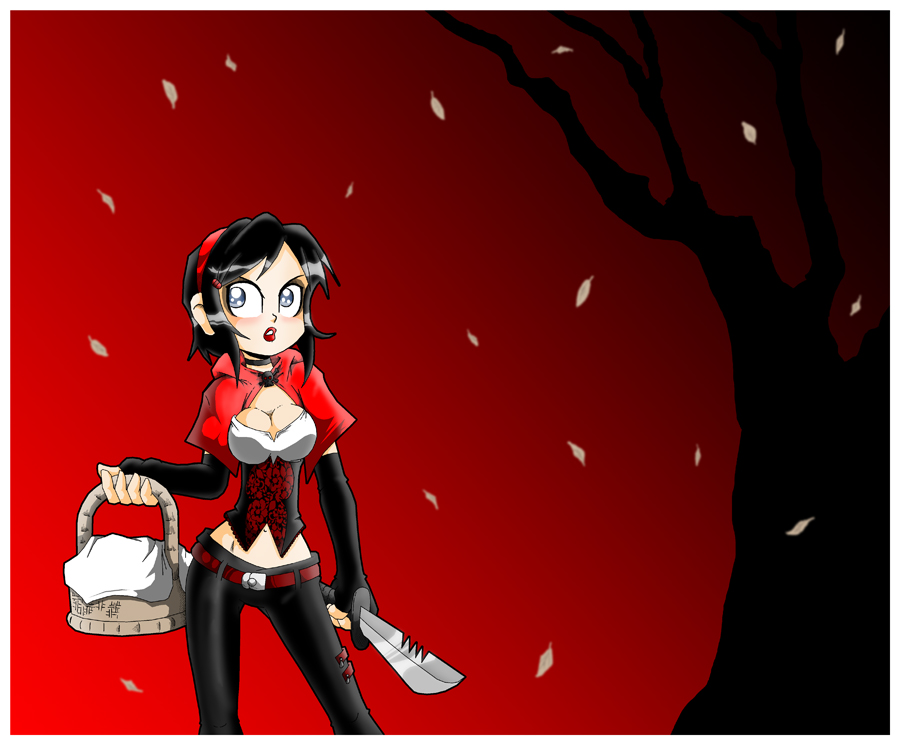 Psycho red riding hood by Carlos-the-G