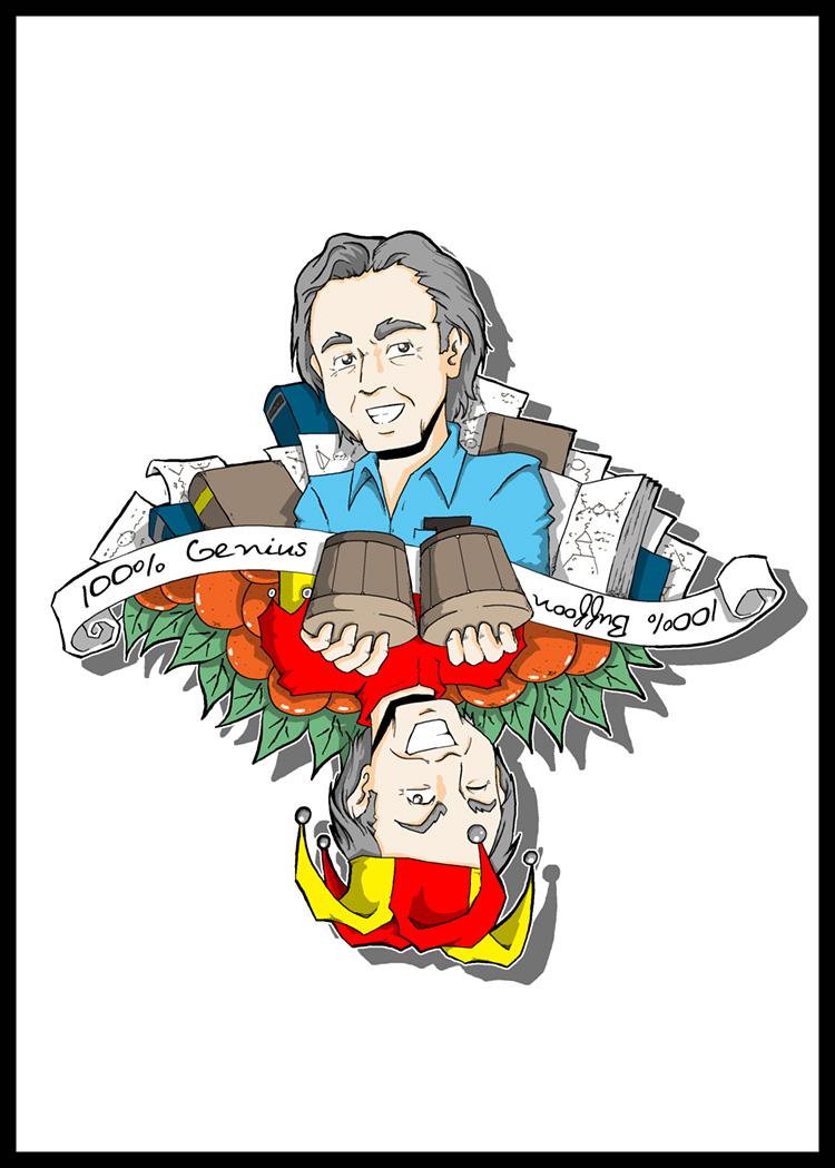 Richard Feynman-All Buffoon, All Genius by Carlos-the-G