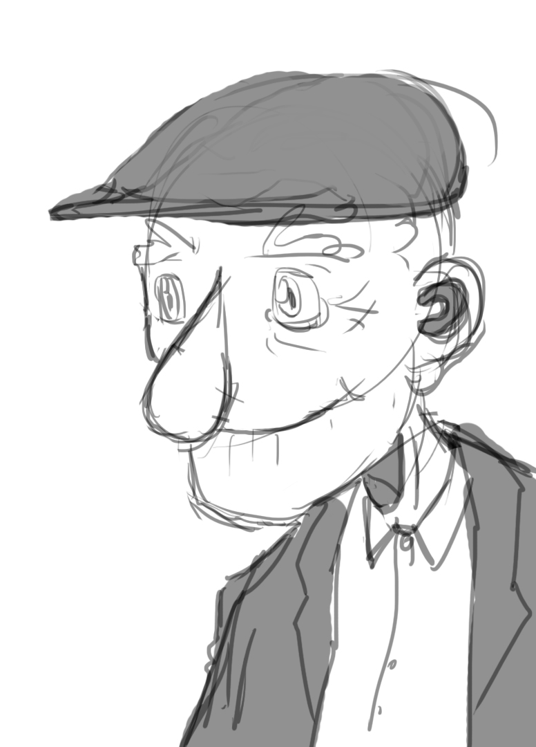 Character Design Old Man : Old man i character design by gadox on deviantart