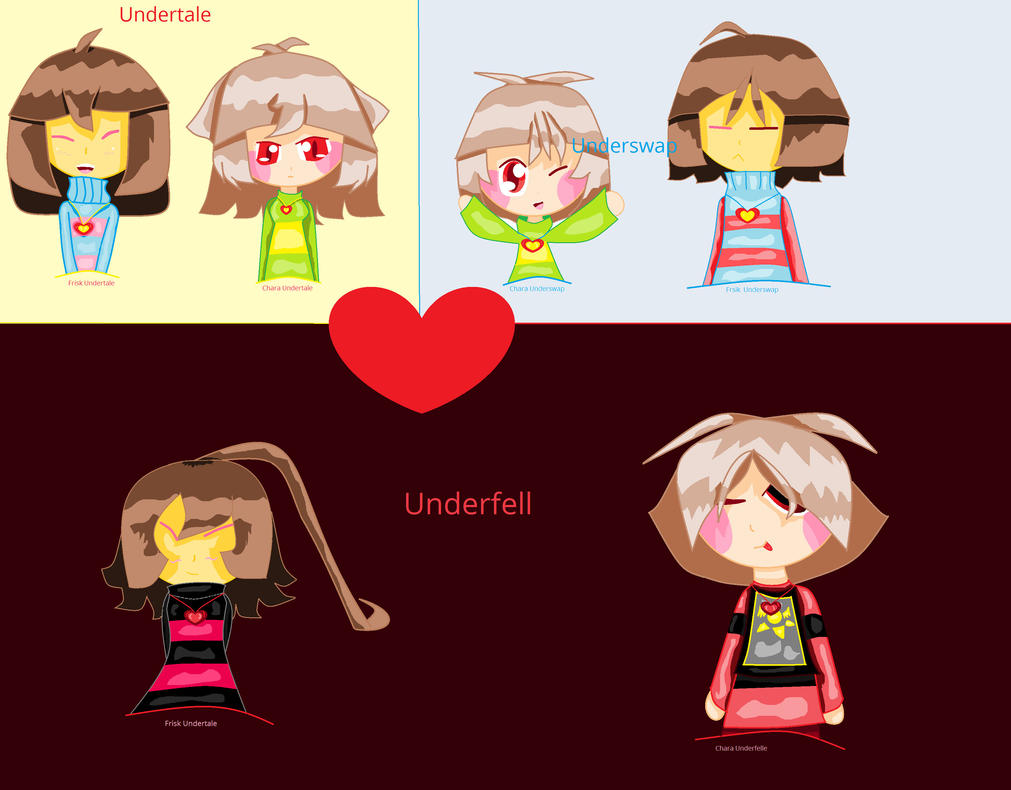 Ut,us,uf Frisk And Chara My Version by Elektra-chan ...
