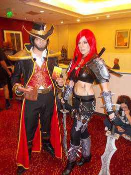 Twisted Fate and Katarina