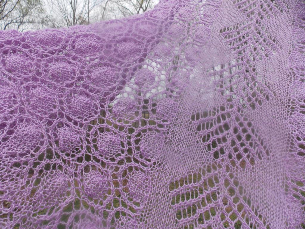 Shetland Shawl Detail by rjccj
