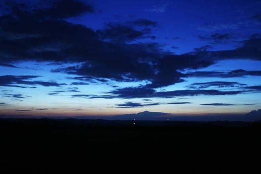 mountain horizon.