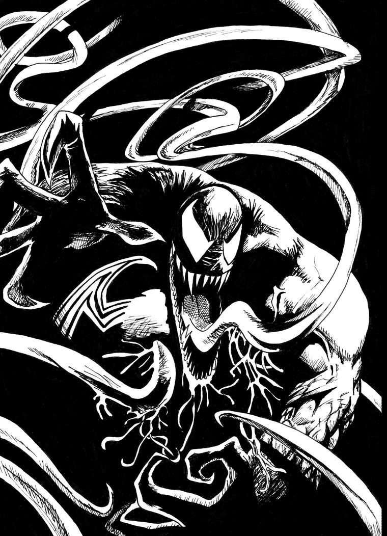 venom comic black n white by venom34 on deviantart. Black Bedroom Furniture Sets. Home Design Ideas